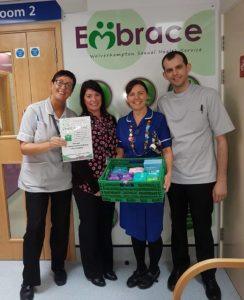 Embrace Sexual Health donation point Project GIVE