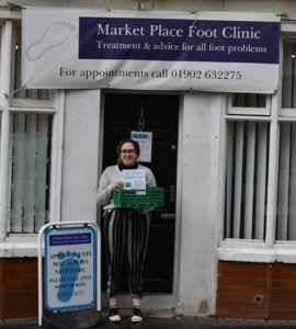 Marketplace Foot Clinic donation point Project GIVE