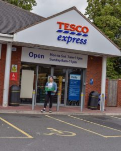 Tesco Express donation point Project GIVE