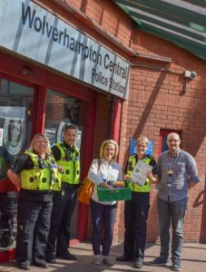 West Midlands Police donation point Project GIVE